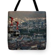 Cable Car In Grenoble  Tote Bag