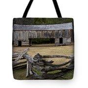 Cable Mill Barn In Cade's Cove No.122 Tote Bag