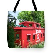 Caboose In The Trees Tote Bag