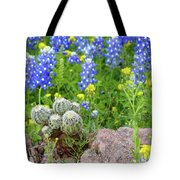 Cactus And Bluebonnets 2am-28694 Tote Bag