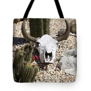 Cactus And Cow Skull Tote Bag