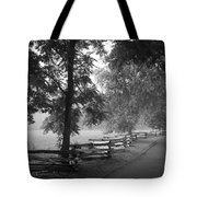 Cades Cove Tennessee In Black And White Tote Bag