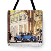 Cadillac Ad, 1927 Tote Bag