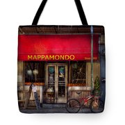 Cafe - Ny - Chelsea - Mappamondo  Tote Bag by Mike Savad