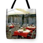 Cafe In Split Old Town Tote Bag