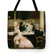 Cafe Scene In Paris Tote Bag by Henri Gervex