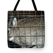 Caged Rabbit Tote Bag