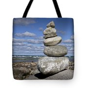 Cairn At North Point On Leelanau Peninsula In Michigan Tote Bag