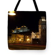 Calahorra Cathedral At Night Tote Bag