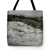 Calcite Bench - Mammoth Hot Springs Tote Bag