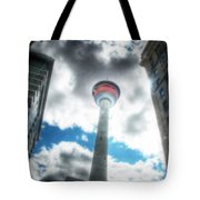 Calgary Tower Hdr Tote Bag