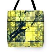 Caliente Geometric Yellow Tote Bag