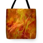 Caliente On Fire With Butterflies Tote Bag