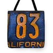 California 1937 Tote Bag