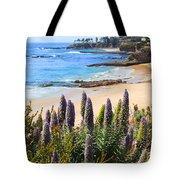 California Coast Flowers Photo Tote Bag