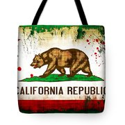 California Grunge Style Flag Tote Bag