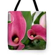 Calla Lilies In Pink Tote Bag