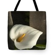Calla Lily And Fence Tote Bag