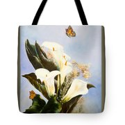 Callas And Butterflies Tote Bag