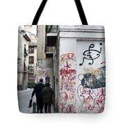 Calle Alvaro De Bazan Graffiti Tote Bag