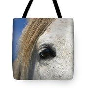 Camargue Horse Equus Caballus Eye Tote Bag