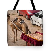 Camel Ready To Take Tourists For A Desert Safari Tote Bag