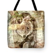 Camouflaged Bear Tote Bag