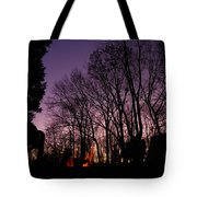 Camp Fire Sunset Tote Bag