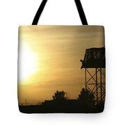 Camp Warhorse Guard Tower At Sunset Tote Bag