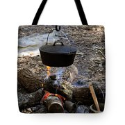 Campfire Cooking Tote Bag by David Lee Thompson