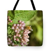 Camphorweed Wildflowers And Honey Bee Tote Bag
