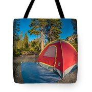 Camping In The Forest Tote Bag