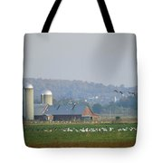Canada Geese And Other Birds Fill Tote Bag