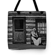 Canadian Gothic Monochrome Tote Bag