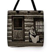 Canadian Gothic Sepia Tote Bag