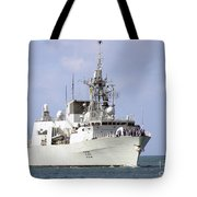 Canadian Navy Halifax-class Frigate Tote Bag