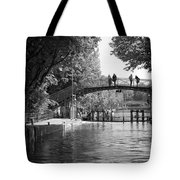 Canal Of St. Martin Bw Tote Bag