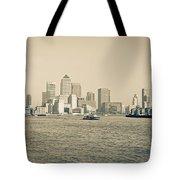 Canary Wharf Cityscape Tote Bag