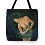 Cancer From Zodiac Series Tote Bag