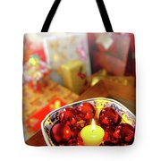 Candle And Balls Tote Bag