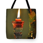 Candle And Colored Glass Tote Bag