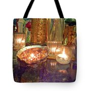 Candle Light Reflections  Tote Bag
