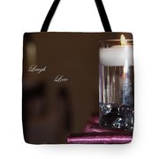 Candle - Live Laugh Love Tote Bag