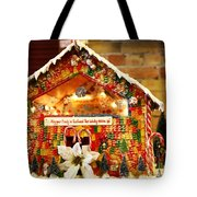 Candy Gingerbread House Tote Bag