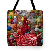 Candy Jar Spilling Candy Tote Bag