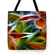 Candy Lily Fractal Panel 2 Tote Bag