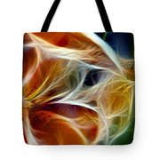 Candy Lily Fractal Panel 3 Tote Bag
