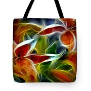 Candy Lily Fractal  Tote Bag by Peter Piatt