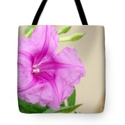 Candy Pink Morning Glory Flower Tote Bag