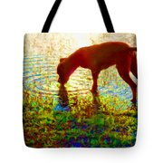 Canelo Drinking Water By The Lake Tote Bag